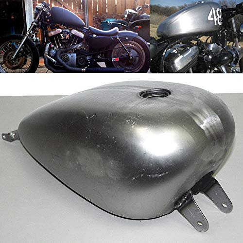 BBUT 3.3 Gallon EFI Gas Fuel Tank Smooth Custom Stock for Harley Sportster XL 2007-2018 2008 2009 2010 2011 2012 2013 2014 2015 2016 ()