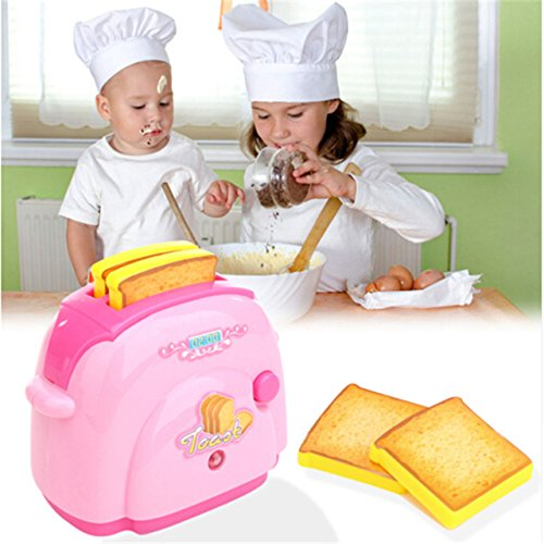 Toaster Play Toy - 1 Piece Toaster Toys Pretend Play Toys Application Toy For Girls Boys Gift Pink (Toaster Play Pretend)