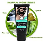 WillMall Blackhead Remover Black Face Mask Charcoal Purifying Peel Off Mask Moisturinzing Brightening Deep Cleansing Pore Dead Sea Mud Facial Mask Treatments for Whiteheads Blemishes Acne-2.0 Fl Oz