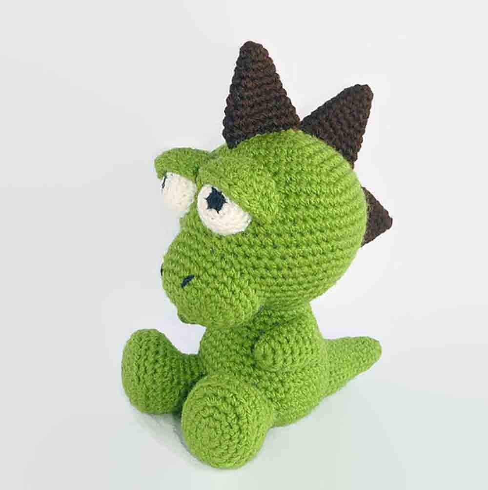Amazon.com: Crochet Dinosaur Toy Doll: Handmade | 1004x1000