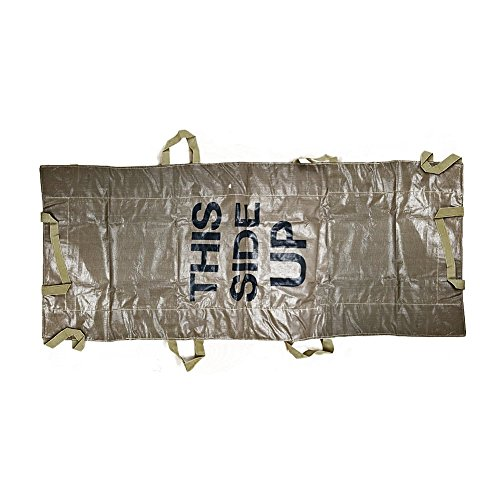 (BATTLBOX Multi-Use Disposable Rescue Litter - Disposable Emergency Stretcher - Patient Transfer System - Backboard Lift Assist - 400 Pound Capacity)