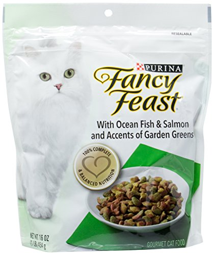 Purina Fancy Feast With Ocean Fish & Salmon and Accents of Garden Greens Gourmet Cat Food (Fancy Feast Cat Food Dry)