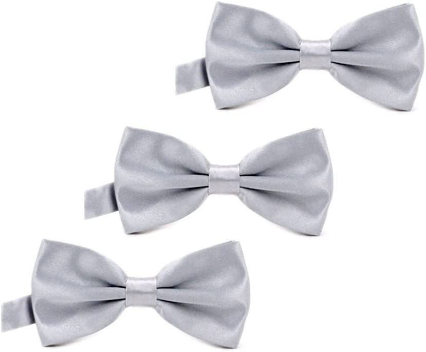 IvyFlair 3-Pack Pre Tied Adjustable Satin Formal Bowties Bow Tie Fuchsia