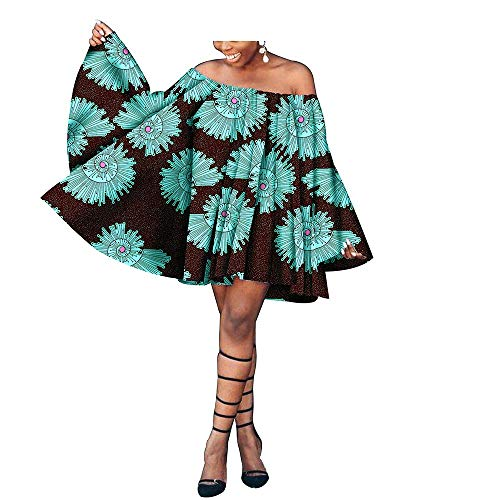 (African Clothing for Women Party Wear for Girls Women Wax Print Dashiki Crop Top 281 3X)