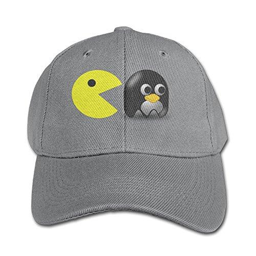 JXMD Young Boys And Girls Pacman Logo Baseball Visor Cap Ash