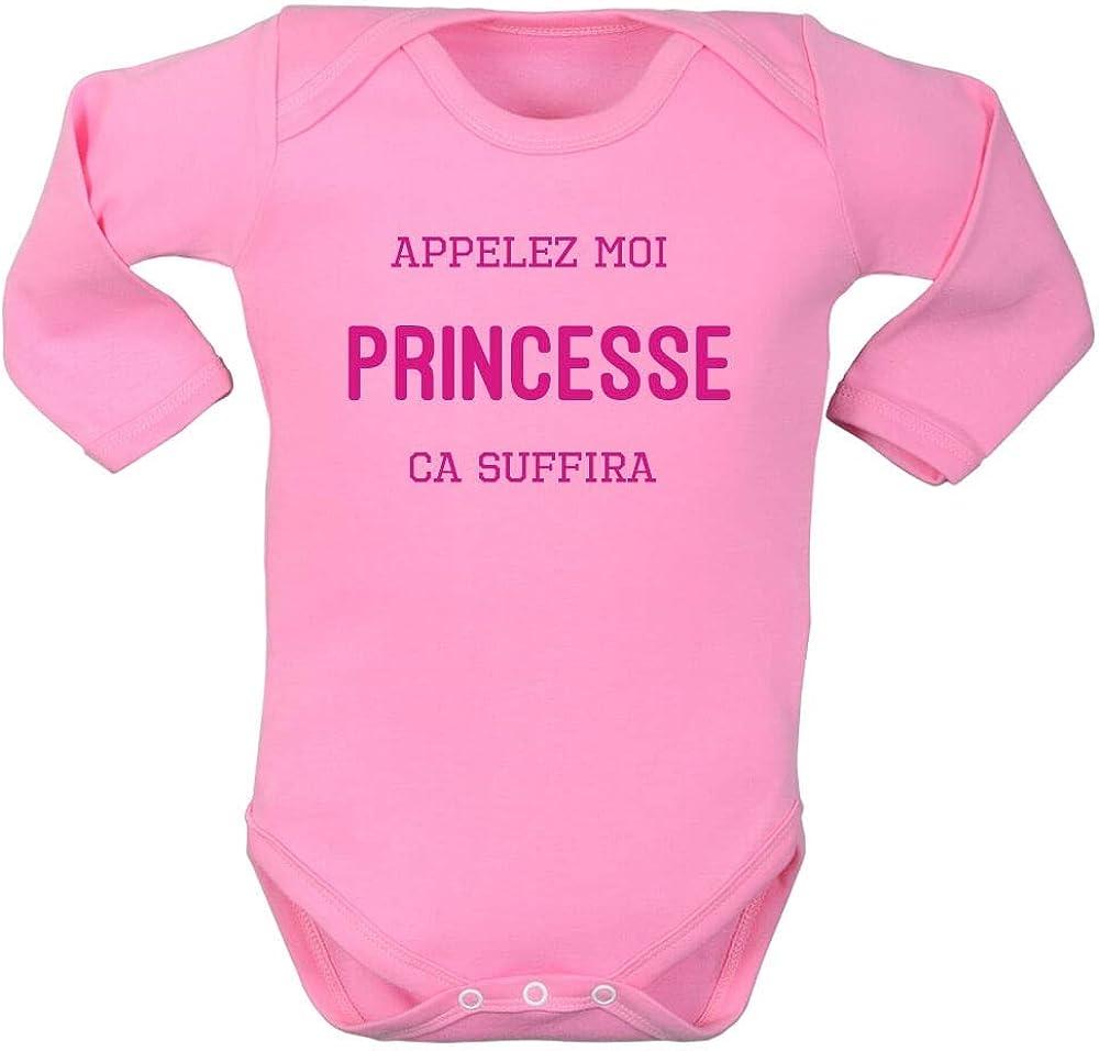 Bodies Humour Enfant Body Fille Message Rigolo brassi/ère b/éb/é Princesse Pressions Entrejambe Manches Longues