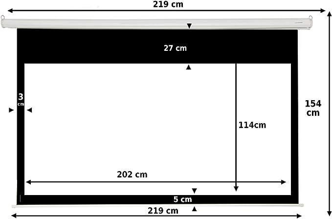 Pantalla de proyeccion Manual Luxscreen 92