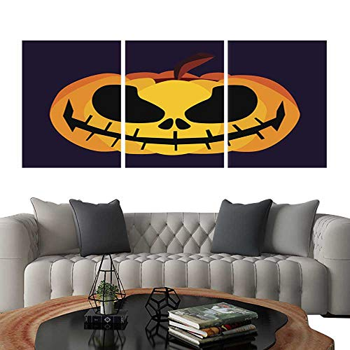 (UHOO Modern Flowers PaintingIsolated Vector Yellow Orange Festive Scary Halloween Pumpkin Icon2. Bedroom Home Decorations)