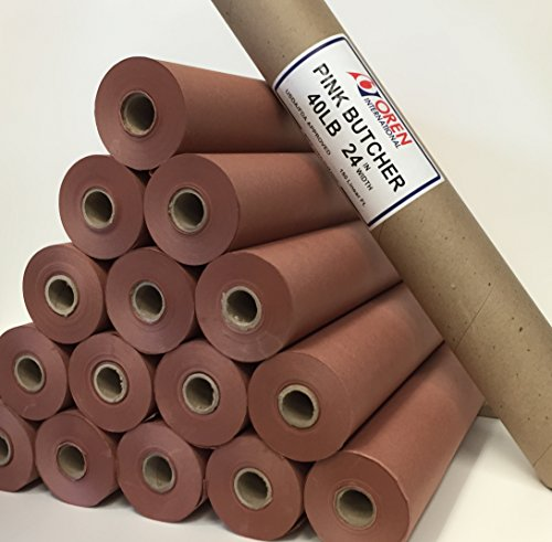 "Pink Butcher Paper Kraft Roll 24"" x 260' (3120"") 