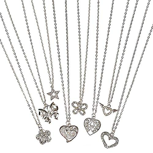 Kicko 16 Inch Assorted Metal Necklace - 24 Pieces, Women Accessories, Silver Chains, Buy and Sell, Birthday, Anniversaries, Valentines, Friendship Gift Ideas, Fashion Trends, Girly Stuff]()