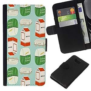 Stuss Case / Funda Carcasa PU de Cuero - Arte Moderno Embalaje de Marketing - Samsung ALPHA G850