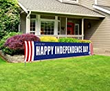 Large Happy Independence Day Banner, 4th of July