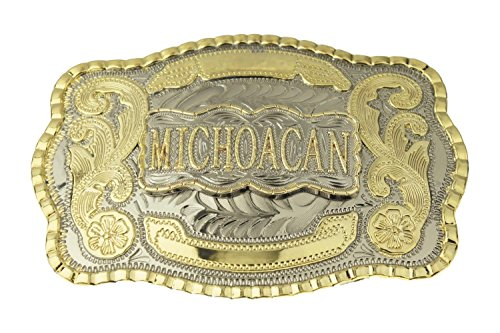 Michoacan Western Large Rodeo Cowboy Belt Buckle by RIDE AWAY