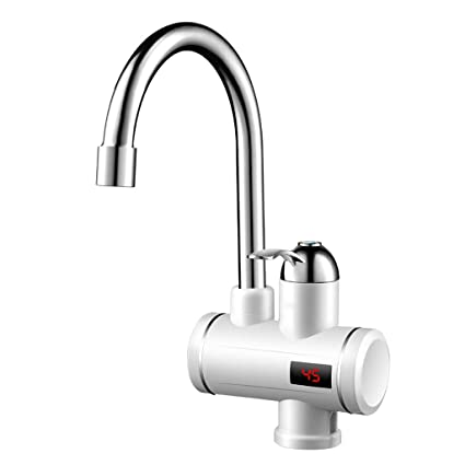 NUBAOgy Calentador De Agua Eléctrico Instantáneo Calentador De Agua Eléctrico Rápido De Cocina