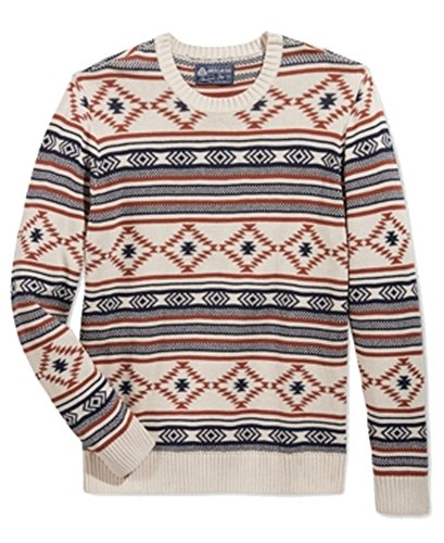 Nice American Rag Mens Ribbed Trim Printed Pullover Sweater for sale