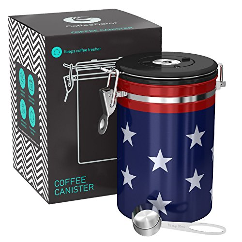 - Coffee Gator 4th of July Canister - Limited Edition USA Stars and Stripes Flag - Large