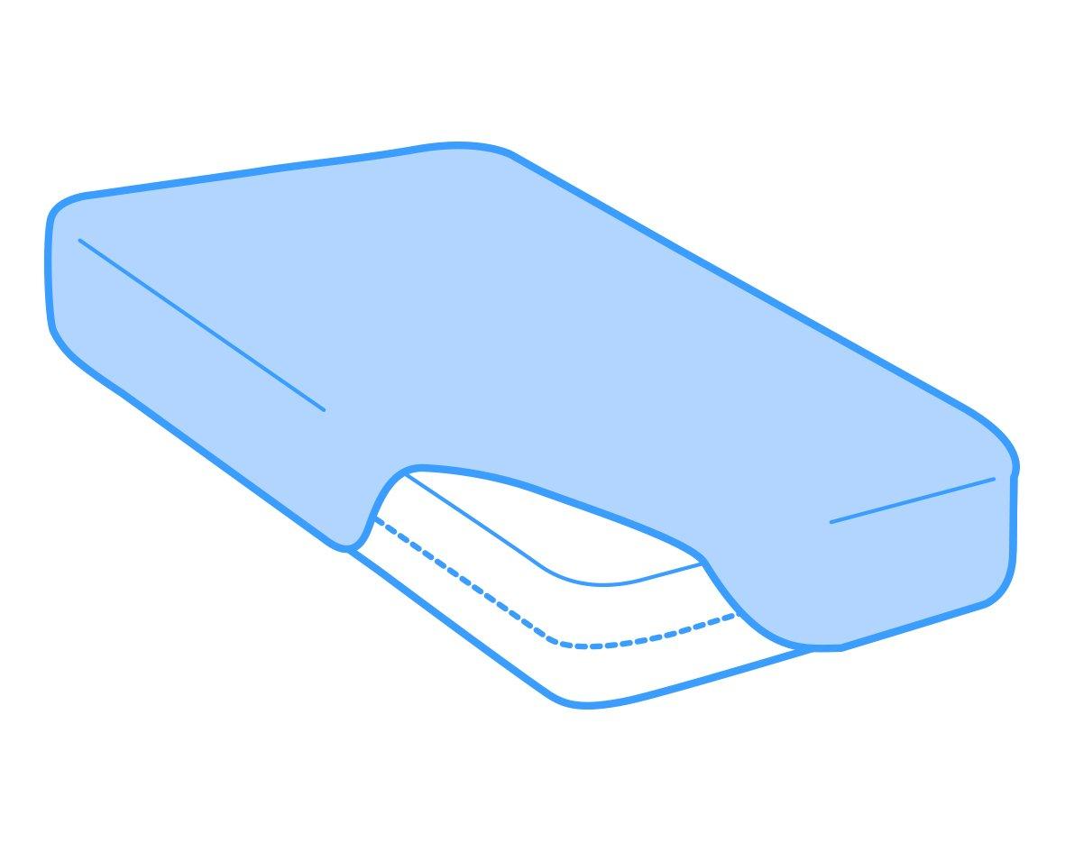Velfont Atmungsaktiv 60x120 cm Verf/ügbar in verschiedenen Gr/ö/ßen Wasserdicht Matratzenauflage//Matratzenschoner Aloe Vera behandelt