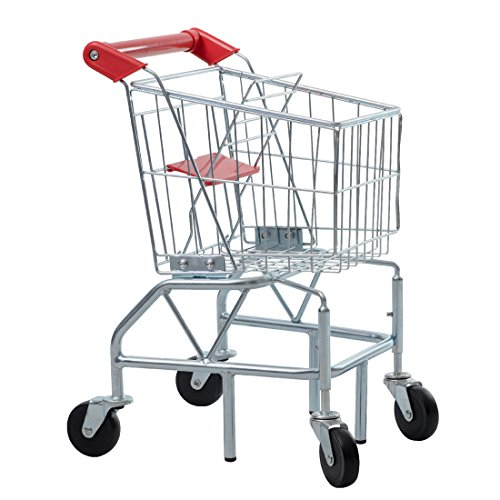 GOOD LIFE Childs Kids toy Shopping Cart with Sturdy Metal Fr