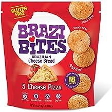 Brazi Bites Brazilian Bread Gluten Free 3 Cheese Pizza, 11.5 Ounce (Pack of 12)