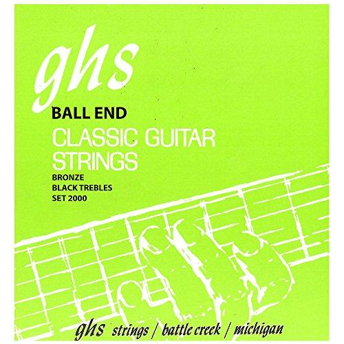 GHS Strings 2000 Ball End Regular, Classical Guitar Strings, High Tension, Phosphor Basses ()