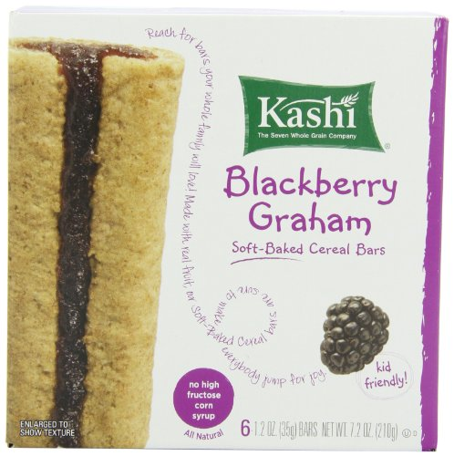 Kashi Cereal Bar, Blackberry Graham, 7.2 Ounce,(Pack of 6) (High Cereal Kashi Fiber Cereal)