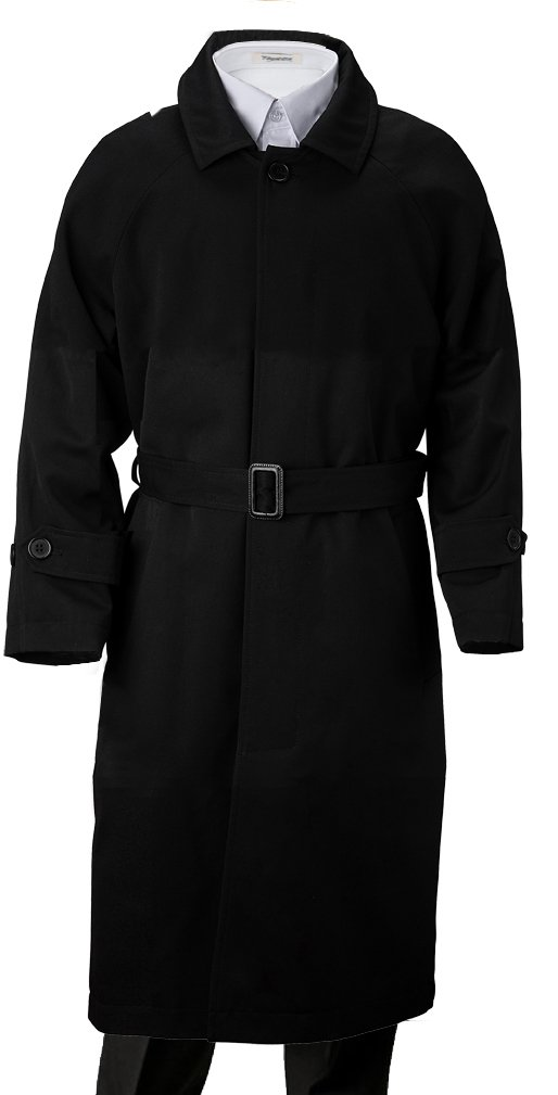 Franco Palino Big Boys' Single Breasted Trench Coat Rain Coat Water Repellent with Belt & Hood Great For Parties, Holidays, Formal events And all occasions Black 10