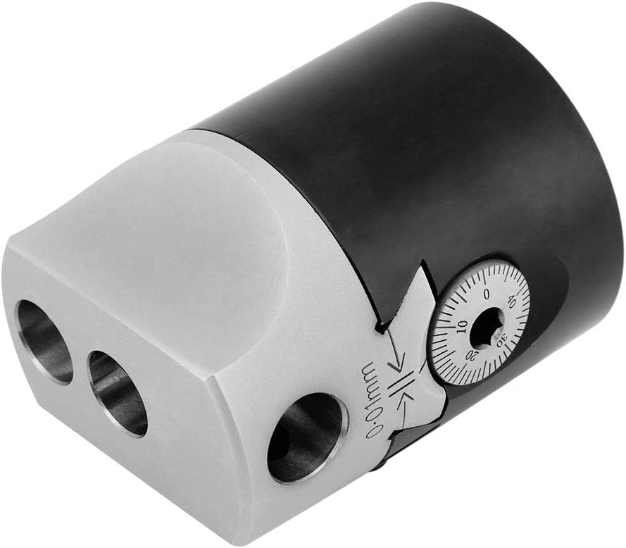 50mm 2 Inch Lathe Boring Head Taper Collet Chuck Milling Holder for MT2 Shank 3Hex Keys Wandisy MT2 Holder