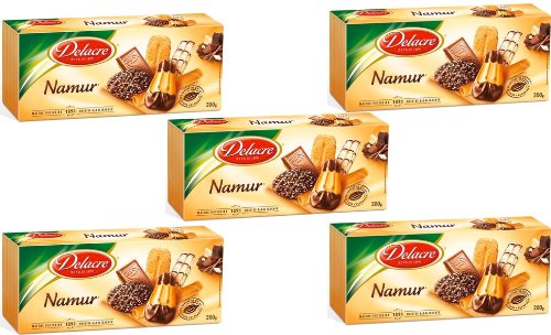 Delacre Biscuits (French Namur: Assorted Cookies 6 Varieties Delacre-Namur : Assortiment De Biscuits 6 Varietes Delacre-5 Box Pack)