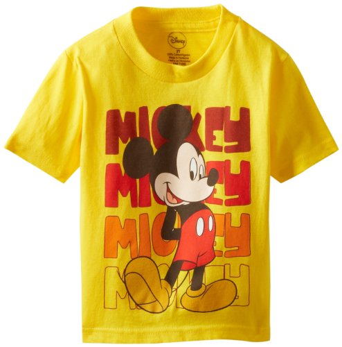 (Mickey Mouse Little Boys' Toddler Classic Toddler T-Shirt, Yellow,)