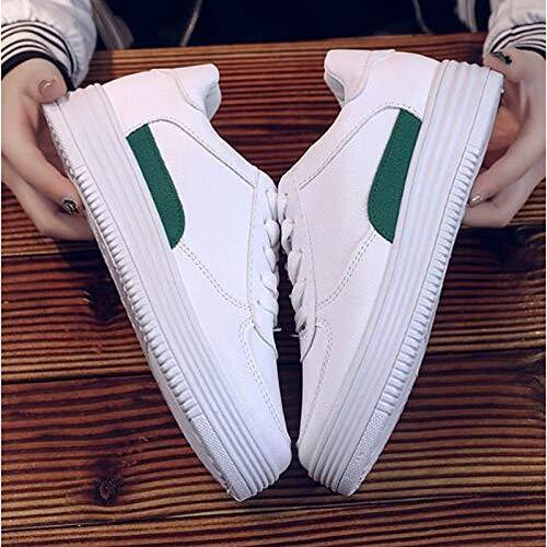 Sneakers ZHZNVX Summer Mujer Toe de Zapatos Spring Rojo Round Comfort Flat PU Verde Heel Poliuretano Khaki Fall Caqui amp; wqvwrA4S
