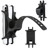 KEIBODETRD Universal-Fahrrad-Motorrad-Handy-Silikon-Halter Halterung Schnalle Ziehen Anti-Rutsch-Handylenkerständer