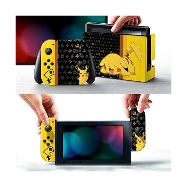 Controller Gear Nintendo Switch Skin & Screen Protector Set - Pokemon - Pikachu Set 1 - Nintendo Switch 2