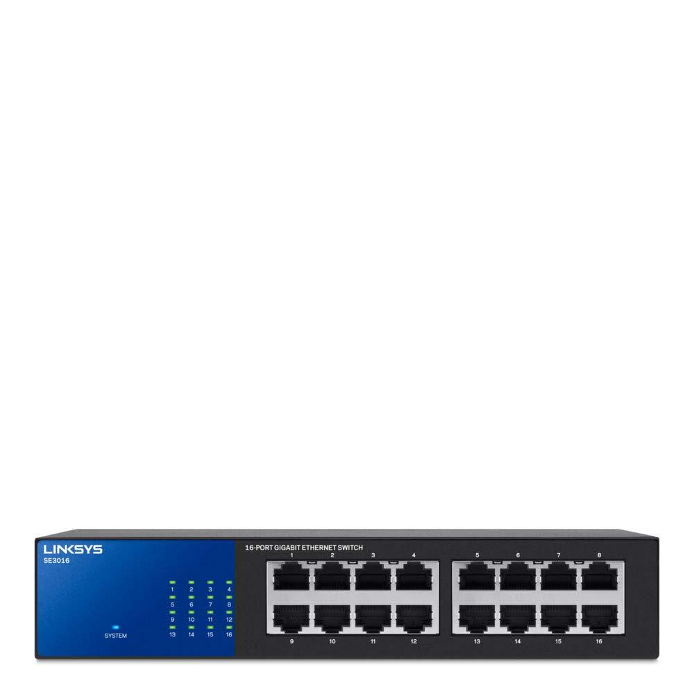 Linksys 16-Port Gigabit Switch (SE3016) by Linksys