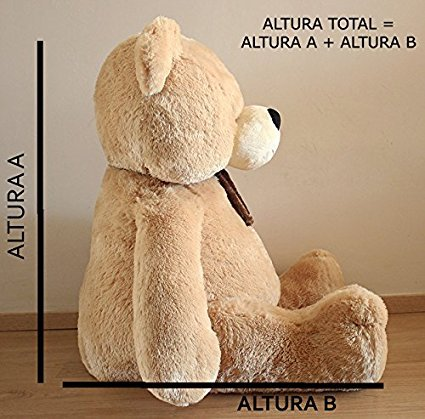 Elefante de peluche gigante 135cm Fabricado en España: Amazon.es: Juguetes y juegos