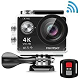 AKASO EK7000 4K Action Camera WIFI Ultra HD Waterproof Camcorder 12MP 170 Degree Wide Angle 2'' LCD Screen/2.4G Remote/Batteries/19 Mounting Kits-Manufacturer Refurbished-Black Reviews
