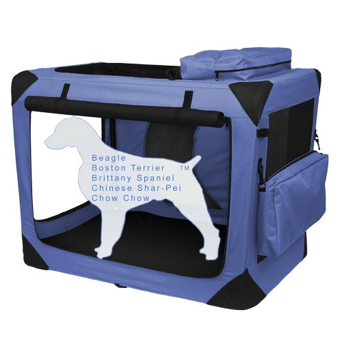 Pet Gear PG5536BS Generation II Deluxe Portable Soft Crate -