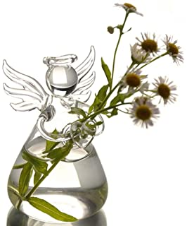 6 Pcs Terrariums Angel Shape Candle Holders Plants Planters,Vase decorations