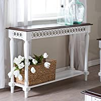Belham Living Jocelyn Console Table - White/Walnut by Belham Living