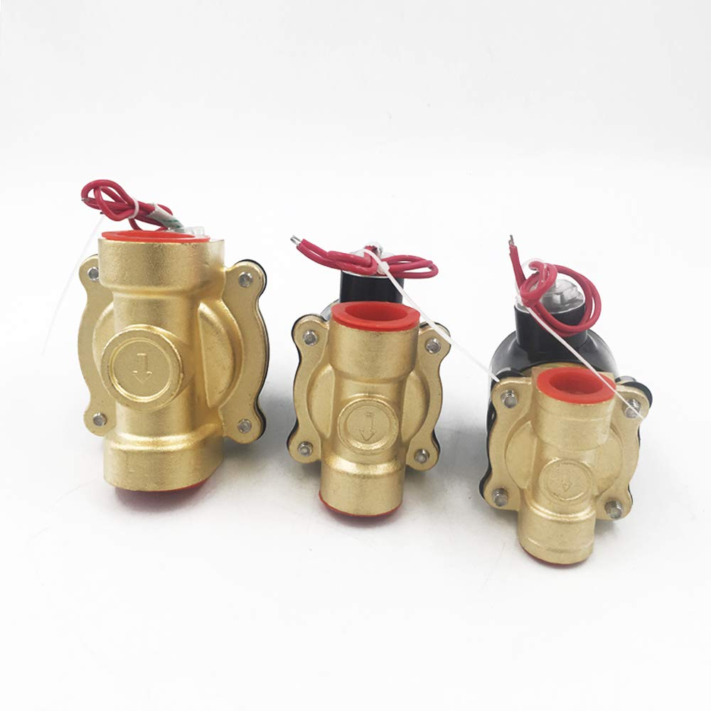 1//4 3//8 1//2 3//4 1 Electric Solenoid Valve DN8 DN10 DN15 DN20 DN25 N//C Pneumatic Valve for Water Oil Air 12V//24V//220V//110V,AC110V,DN8