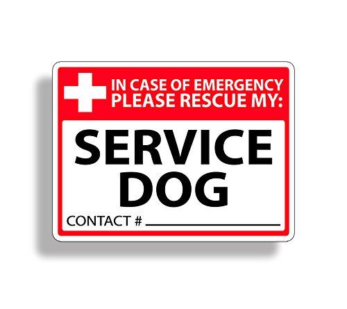Service Dog Rescue Safety Sticker 911 Pet K9 Alert Window Door Decal Graphic Dog Window Graphics