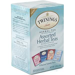 Twinings Herbal Assorted Bagged Tea, 20 Count