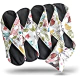 Heart Felt Bamboo-charcoal Reusable Sanitary Pads for Women, Extra-Large (Pack of 5)