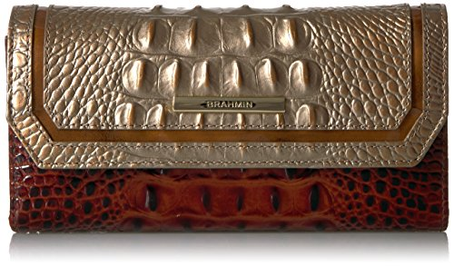 Soft Checkbook Wallet Wallet, Rose Gold 2, One Size by Brahmin