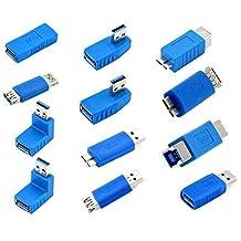 MMdex USB 3.0 Adapter Coupler Connector Adapter Converter Gender Changer 12 Pack