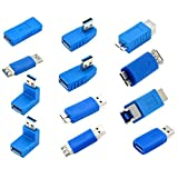 UEB Multiple USB 3.0 Adapter Coupler Connector Converter Gender Changer 12 Pack