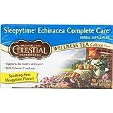 Celestial SEAS -onings - Sleepytime Echinacea Complete Care Wellness Tea - 20 Tea Bags - Case of 6