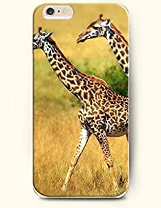 OOFIT Apple iPhone 6 Case 4.7 Inches - Two Walking Giraffes