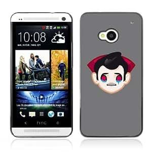 Designer Depo Hard Protection Case for HTC One M7 / Sad Vampire Dracula