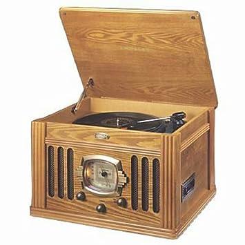 Amazon.com: Crosley cr-67-oa Turntable W/cassette: Home ...