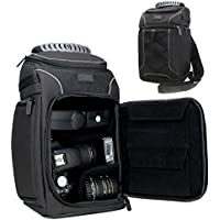 Camera Backpack Sling Case with Customizable Dividers , Accessory Storage , Padded Back Support and Durable Nylon Exterior for Canon , Nikon , Sony , Pentax , Fujifilm , Panasonic , Olympus and More